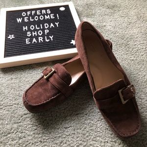 UGG brown suede loafers